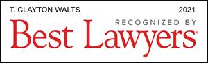 Best Lawyers 2021 Clay Walts